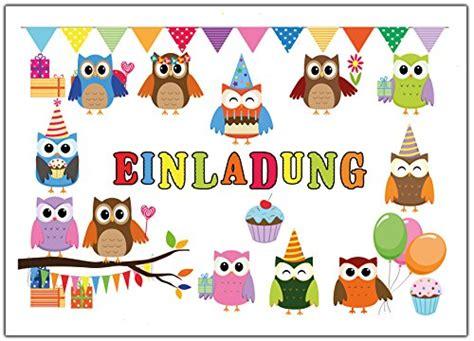 ab wann jugendlich eulen einladungskarten zum kindergeburtstag einladung