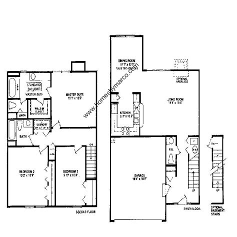 homes by marco floor plans bordeaux model in the cherbourg subdivision in buffalo