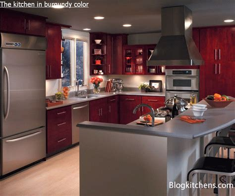 burgundy kitchen the kitchen in burgundy color of designing and