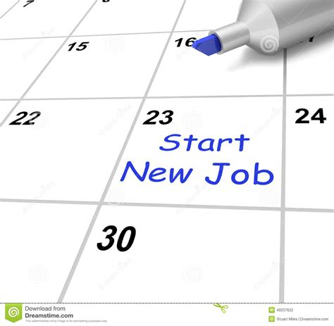 Calendar Meaning Start New Calendar Means Beginning Stock Illustration
