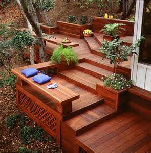 Landscaping Ideas For Hillside Backyard Alluring Natural Outdoor Dining And Living Room Design