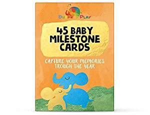 mimm 41 with baby shower highlights and more healthy baby milestone cards 45 illustrated cards to capture