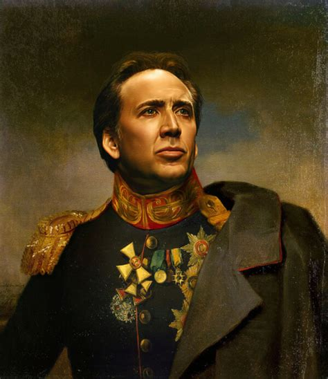 nicolas cage painting 29 amusing portraits of celebrites as old russian generals
