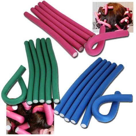Bendy Hair Roller Sponge Isi 6 jazooli 10pc bendy foam hair rollers curlers waves soft tool salon ebay