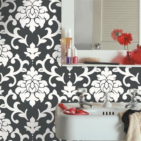 black damask wallpaper home decor 100 black damask wallpaper home decor vintage flock