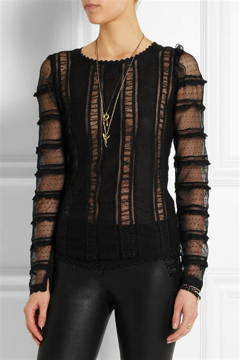 lyst marant quena embroidered cotton lace and