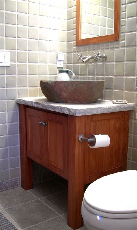 arts and crafts bathroom vanity custom arts and crafts vanity by knecht woodworking