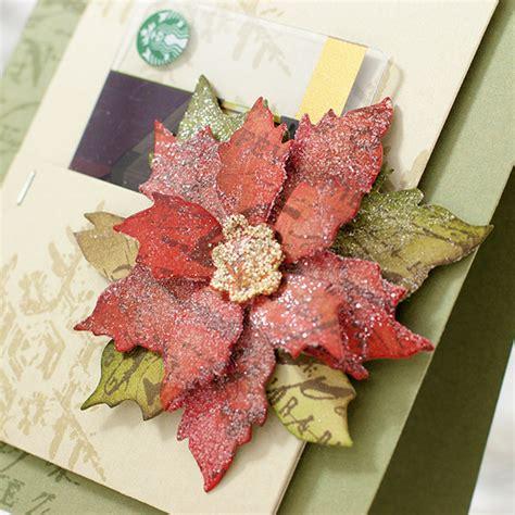 Tim Holtz Gift Card Die - poinsettia gift card with shari simon says st blog