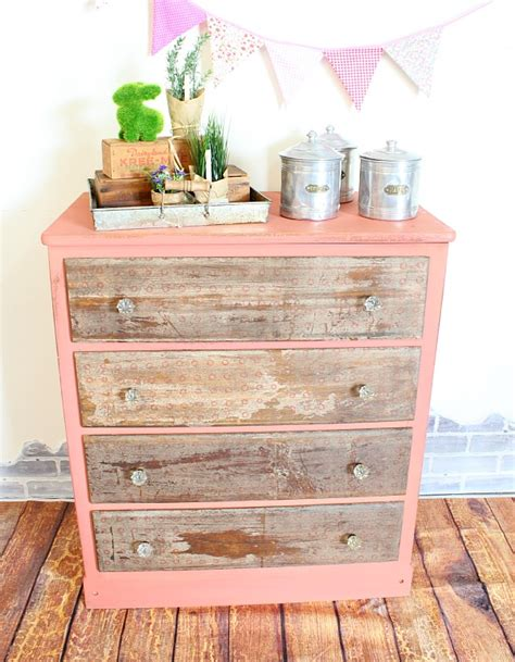 Decoupage Dresser - how to decoupage napkins to dresser drawers for an aged