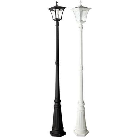 Po01 Solar Regency L Post Light Solar L Post Light