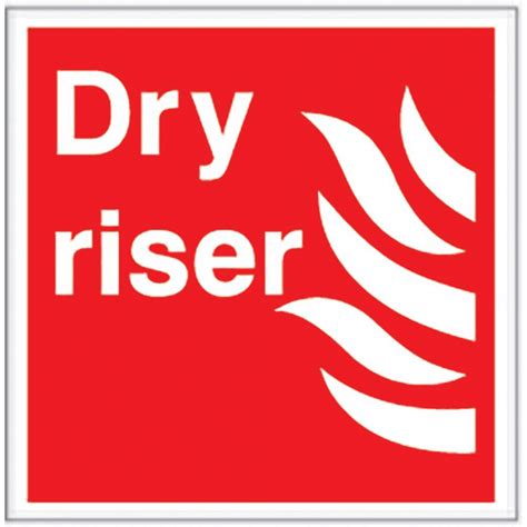 photoluminescent dry riser sign safety signs  parrs uk