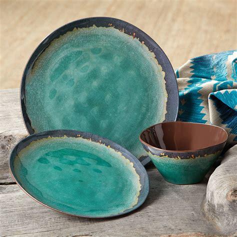 turquoise nature dinnerware