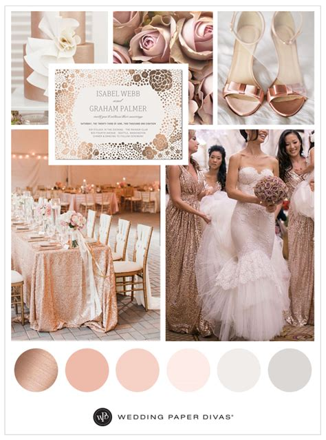 wedding themes rose gold rose gold wedding ideas and color schemes shutterfly