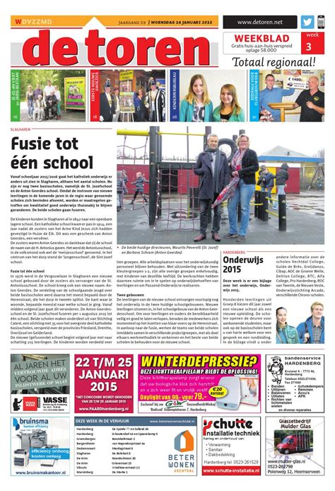 De Toren Week 50 2015 By Weekblad De Toren Issuu by De Toren Week 03 2015 By Weekblad De Toren Issuu