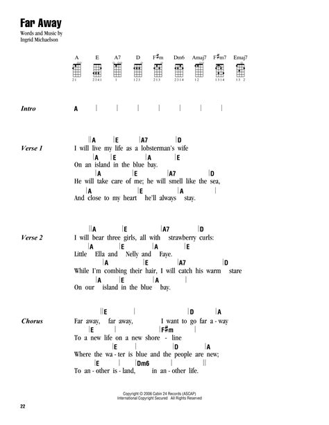 blackpink whistle chord far away sheet music by ingrid michaelson ukulele with