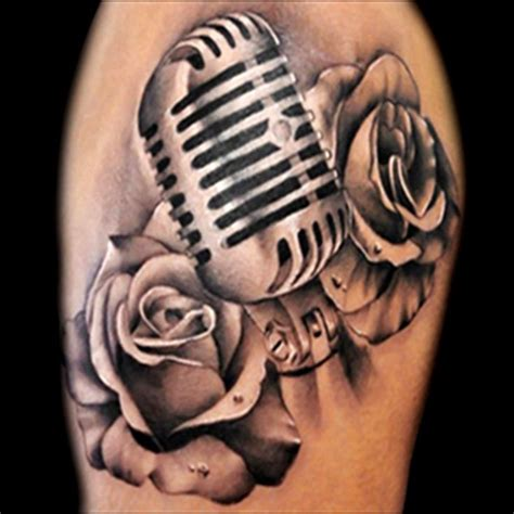 microphone rose tattoo 17 best ideas about microphone on