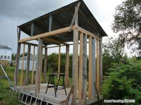 wood shed building idea how to build cheap firewood
