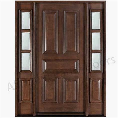 5 Panel Exterior Door Dayar Wooden Front Door Hpd458 Solid Wood Doors Al Habib Panel Doors