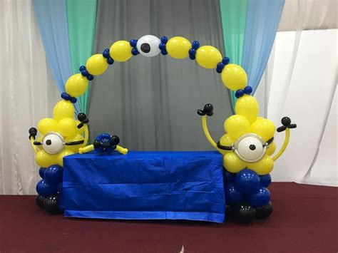 minion decorations how to minion balloon decoration arch column centerpiece