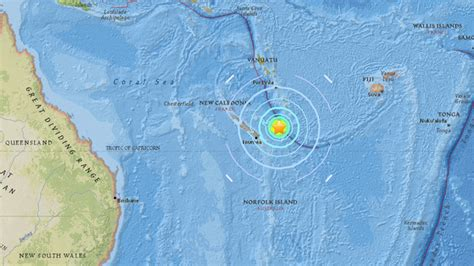 earthquake new caledonia tsunami waves observed after 7 0 earthquake near france s