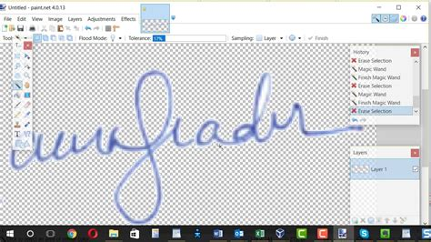 how to make background create signature image with transparent background