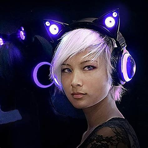 light up cat ear headphones cat ear headphones apollobox
