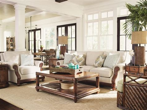 tommy bahama living room tommy bahama home bali hai shoreline sofa tropical
