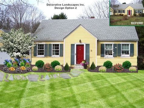 home yard landscaping ideas front yard cape cod house the garden