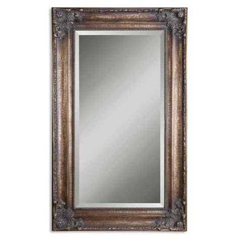 bronze mirrors for bathrooms bathroom mirrors uttermost bertha bronze mirror