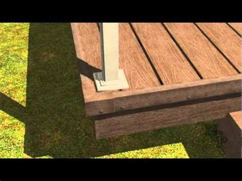 composite decking installation railings youtube