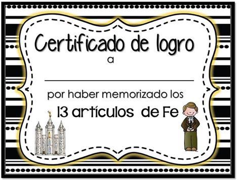 imagenes sud fe certificado art 237 culos de fe lds articles of faith