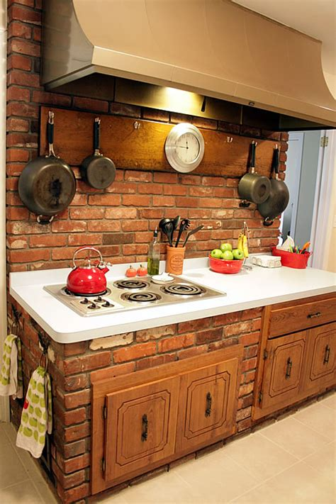 Brick Kitchen Cupboards kitchen and family rooms that were meant to live as one