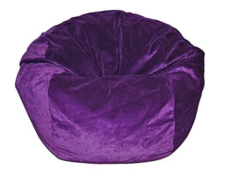 microsuede bean bag chairs ahh products microsuede purple kid bean bag chair