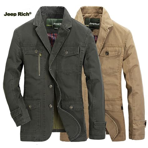 jeep rich jacket jeep rich 174 fall casual cotton blend solid color