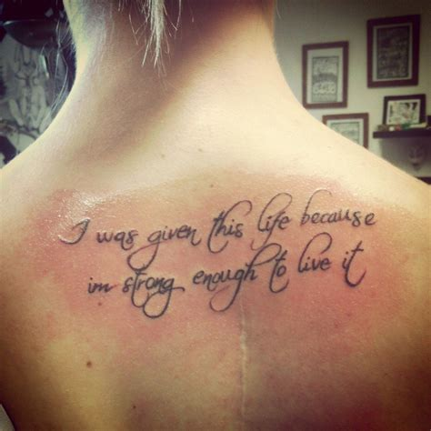 back quote tattoos wpid meaningful quotes for back i was given