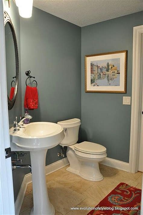 how to clean painted bathroom walls slate blue bathroom with white trim elegant and clean