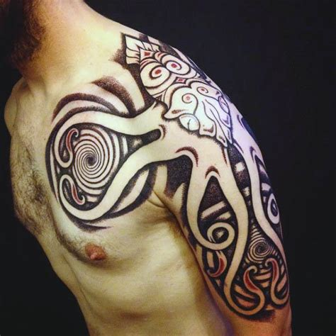 tribal squid tattoo 100 squid designs for manly tentacled skin