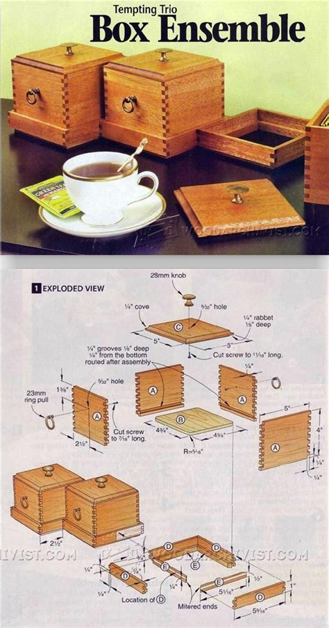 finger joint box plans woodworking plans  projects