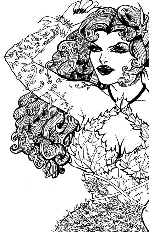 Poison Ivy Coloring Pages To Download And Print For Free Poison Coloring Page