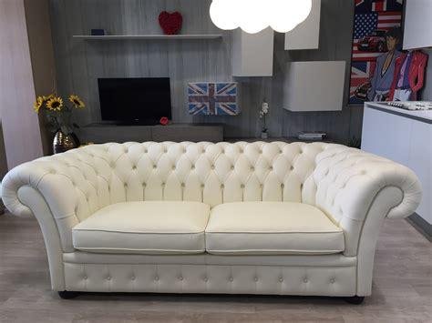 divano in pelle bianco divano in pelle bianco tipo chesterfield scontato 72