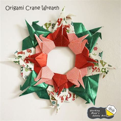 how to make a origami wreath 17 best images about guirlandas on natal fall