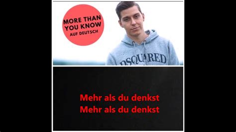 download mp3 free more than you know download voyce mehr als du denkst more than you know auf