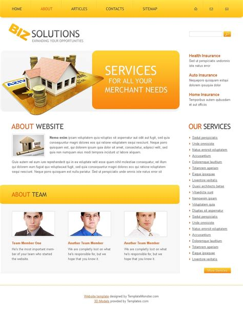 website templates free for business free business solutions website template