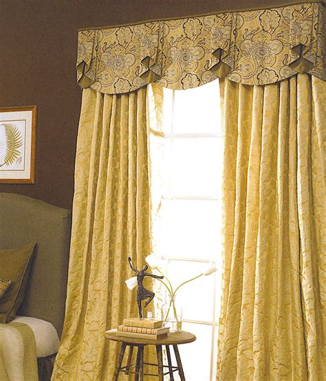 bedroom curtains with valance drapery ideas shown over floor length draperies that