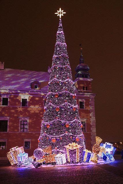 warszawa mazowsze poland christmas christmastree