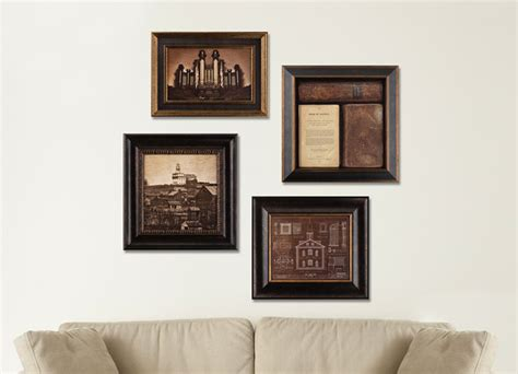 deseret book pictures of deseret book historical collection 4 framed set