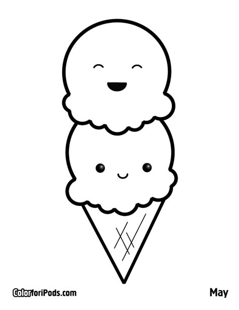 ice cream bear colouring pages