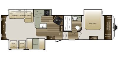 keystone cougar fifth wheel floor plans 2016 keystone rv 2016 keystone rv cougar fifth wheel series m 327 res specs