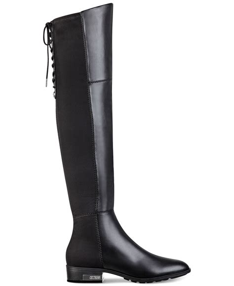 guess s zoe the knee boots in black lyst