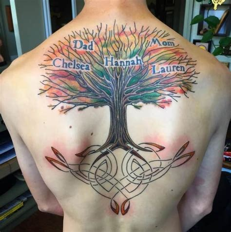 tattoo family tree back family tree tattoos for men ideas and inspiration for guys